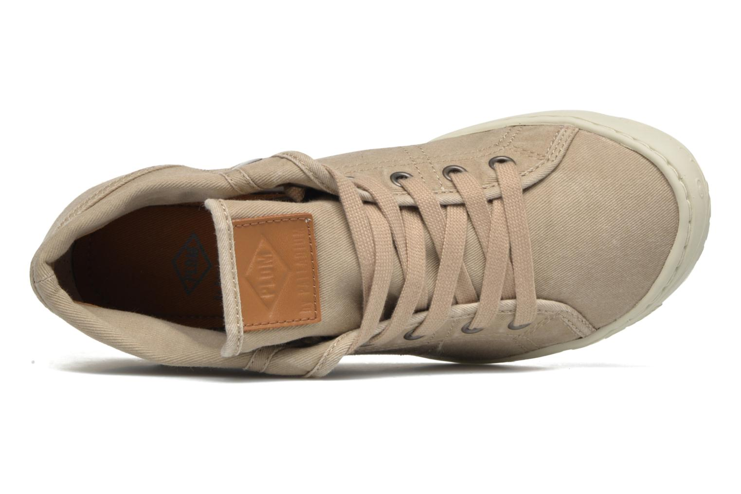 Trainers P-L-D-M By Palladium Gaetane Twl 2 Beige view from the left