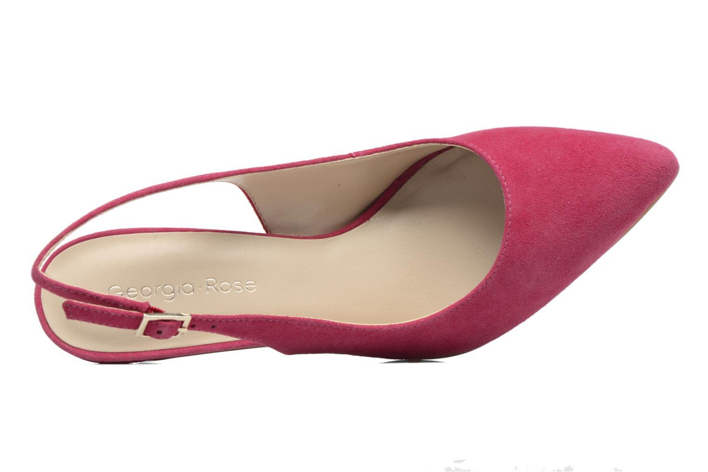 Zapatos de tacón Georgia Rose Gatouba Rosa vista lateral izquierda
