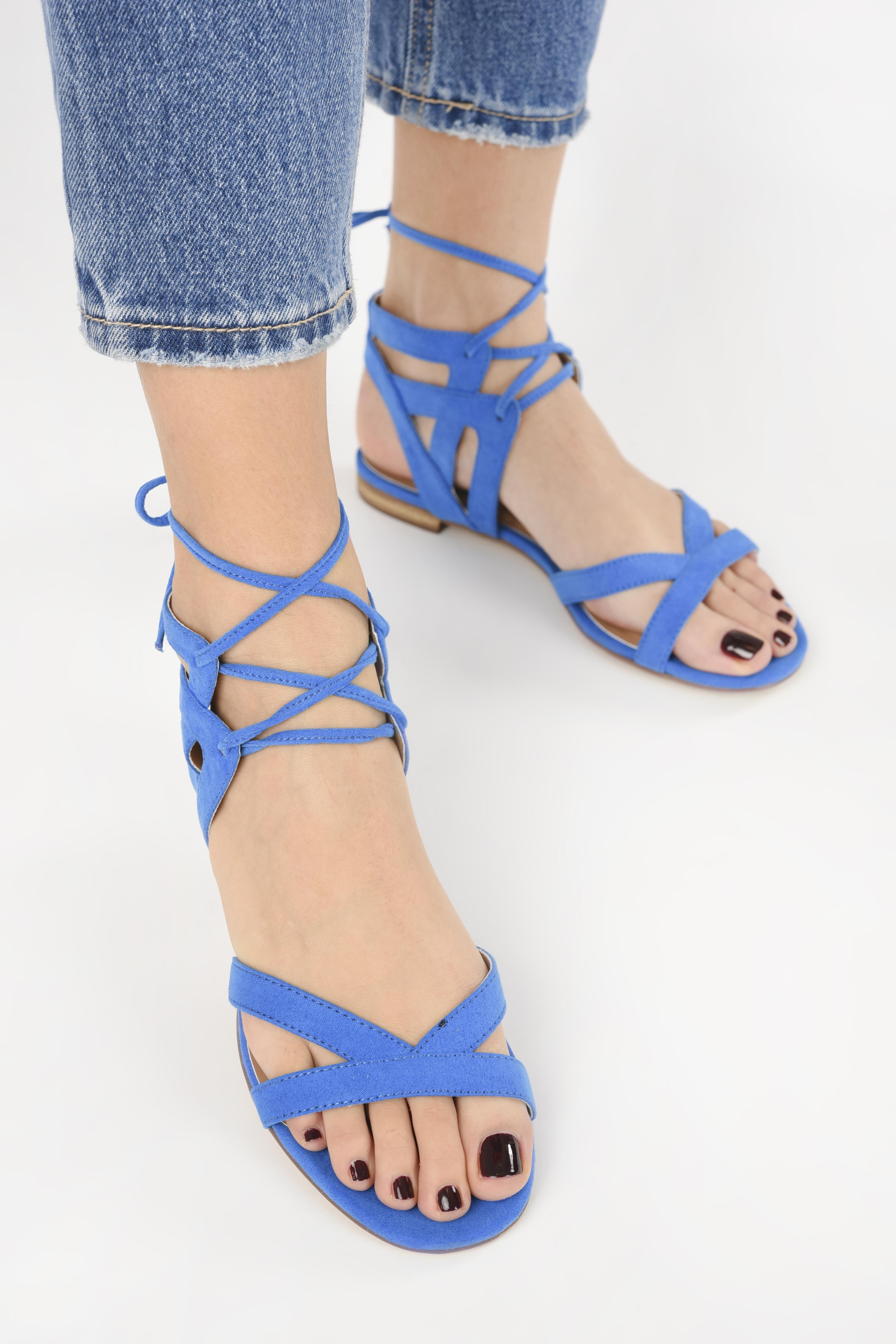 Sandales et nu-pieds I Love Shoes FELICE Bleu vue bas / vue portée sac
