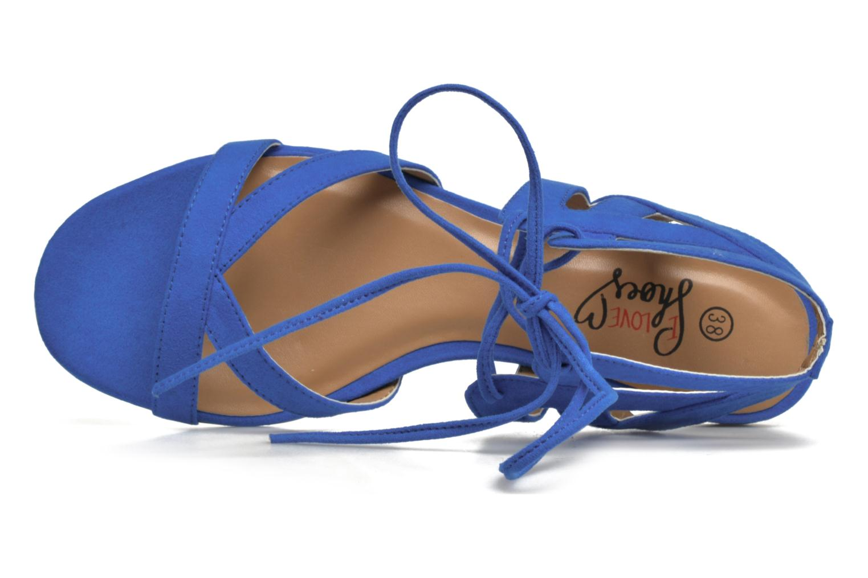Sandalen I Love Shoes FELICE blau ansicht von links