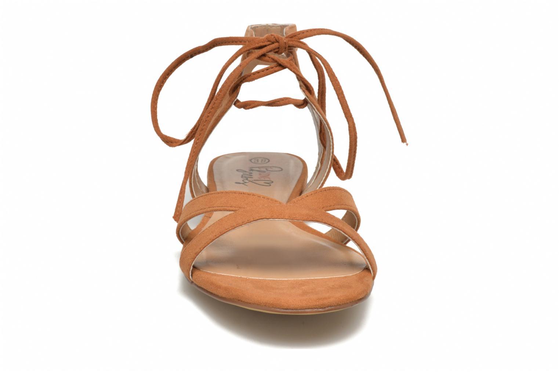 Sandales et nu-pieds I Love Shoes FELICE Marron vue portées chaussures