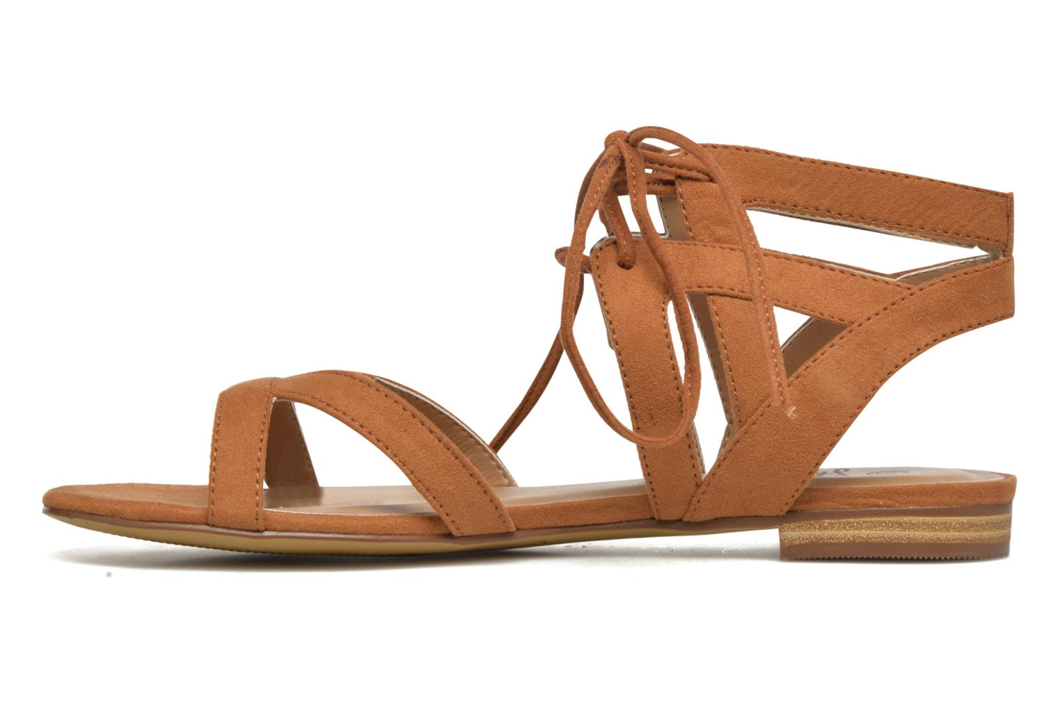 Sandals I Love Shoes FELICE Brown front view