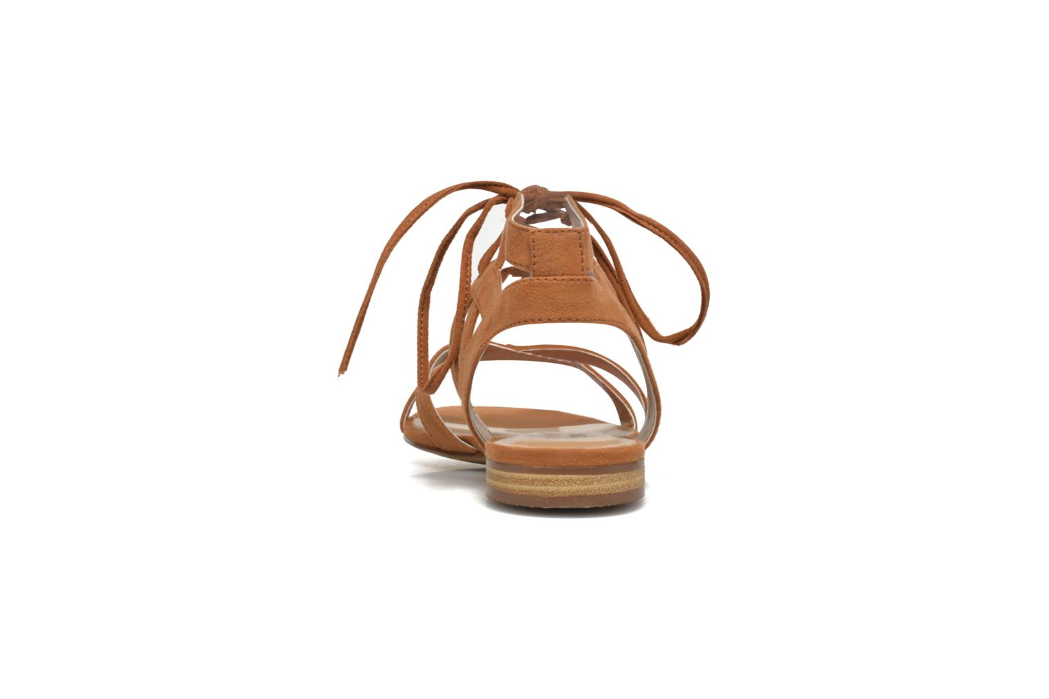 Sandals I Love Shoes FELICE Brown view from the right