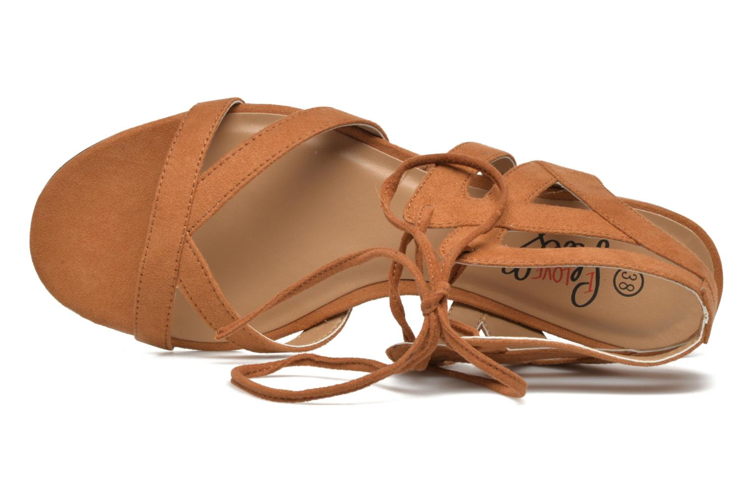 Sandals I Love Shoes FELICE Brown view from the left