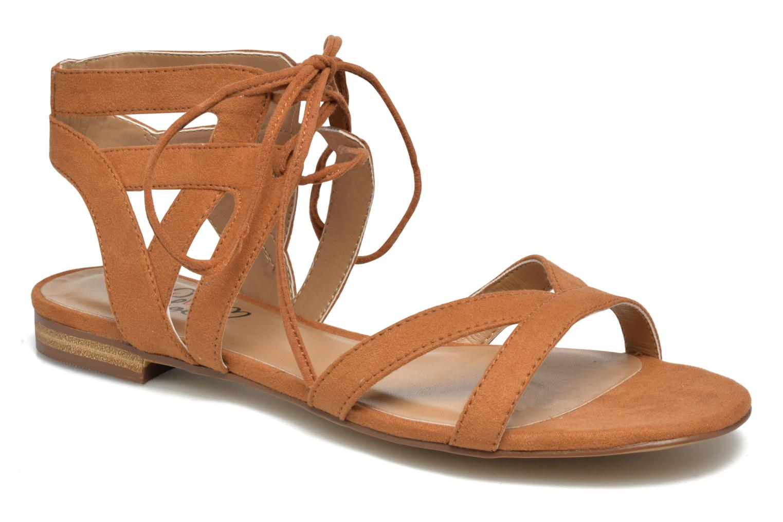 Sandals I Love Shoes FELICE Brown detailed view/ Pair view