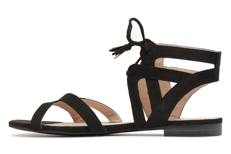 Sandales et nu-pieds I Love Shoes FELICE Noir vue face