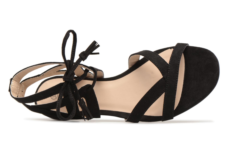 Sandales et nu-pieds I Love Shoes FELICE Noir vue gauche