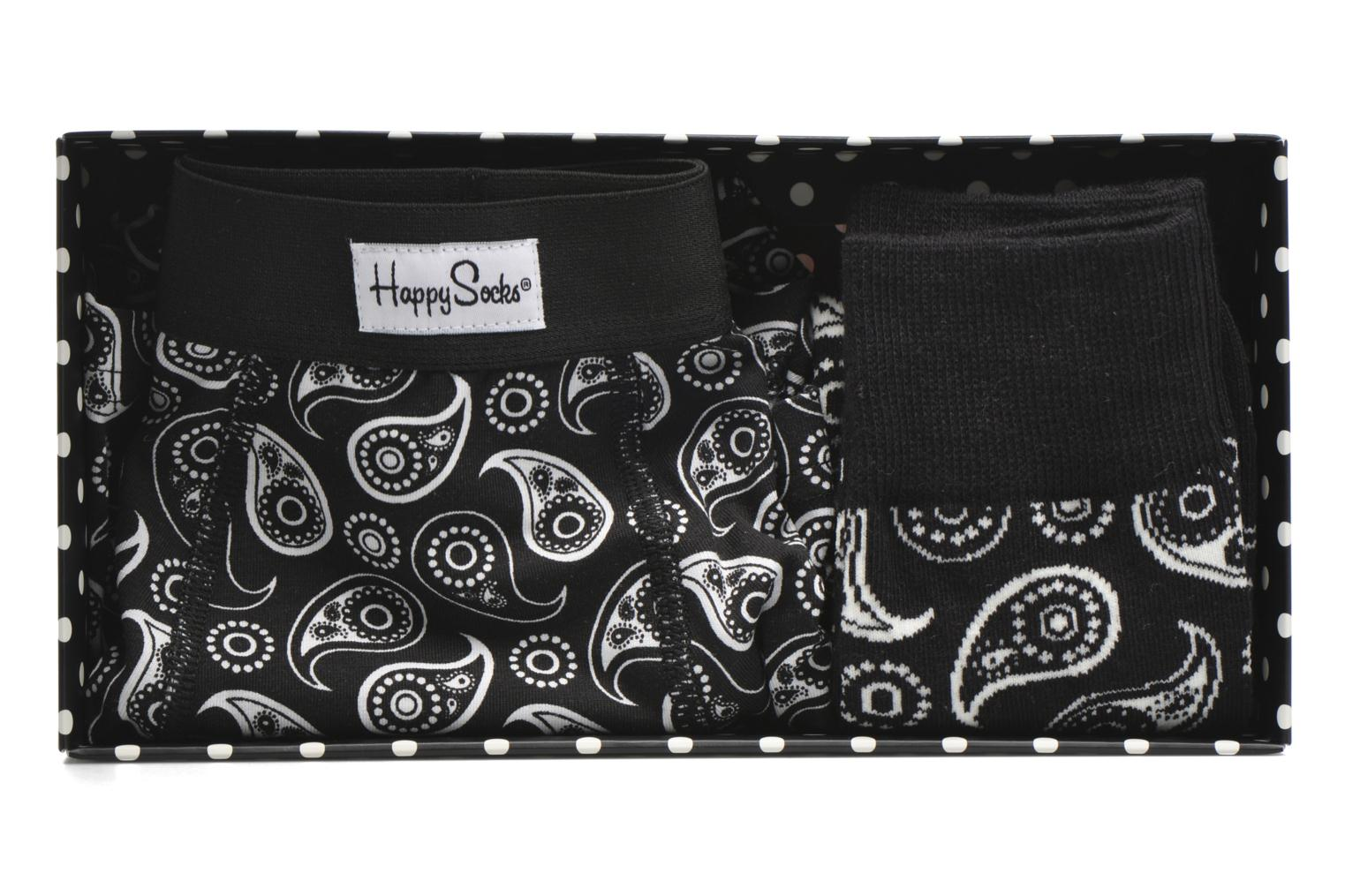 Chaussettes et collants Happy Socks Paisley Men's Trunk & Sock Combo Box Noir vue gauche