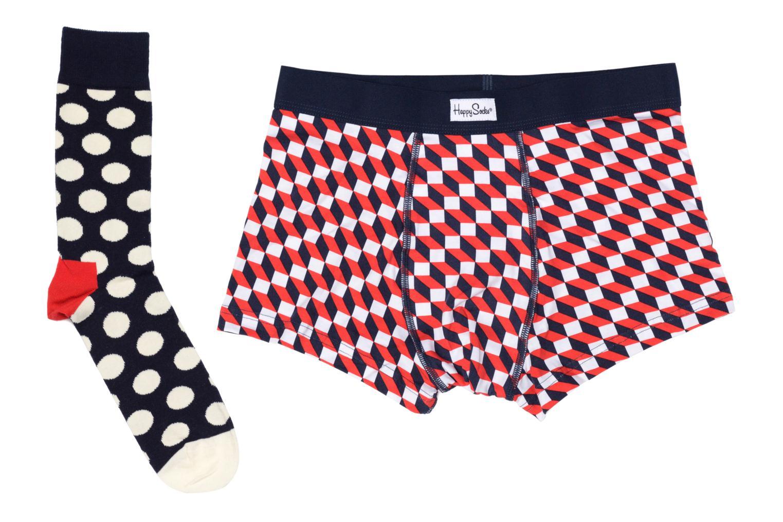 Strumpor och strumpbyxor Happy Socks Filled Optic Men's Trunk & Sock Combo Multi detaljerad bild på paret