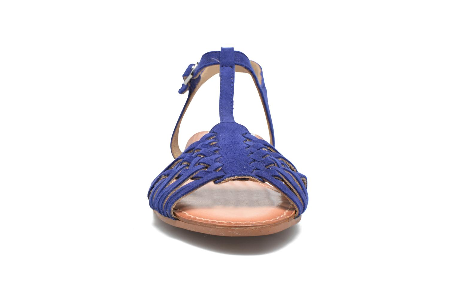 Sandals I Love Shoes KETRES Leather Blue model view