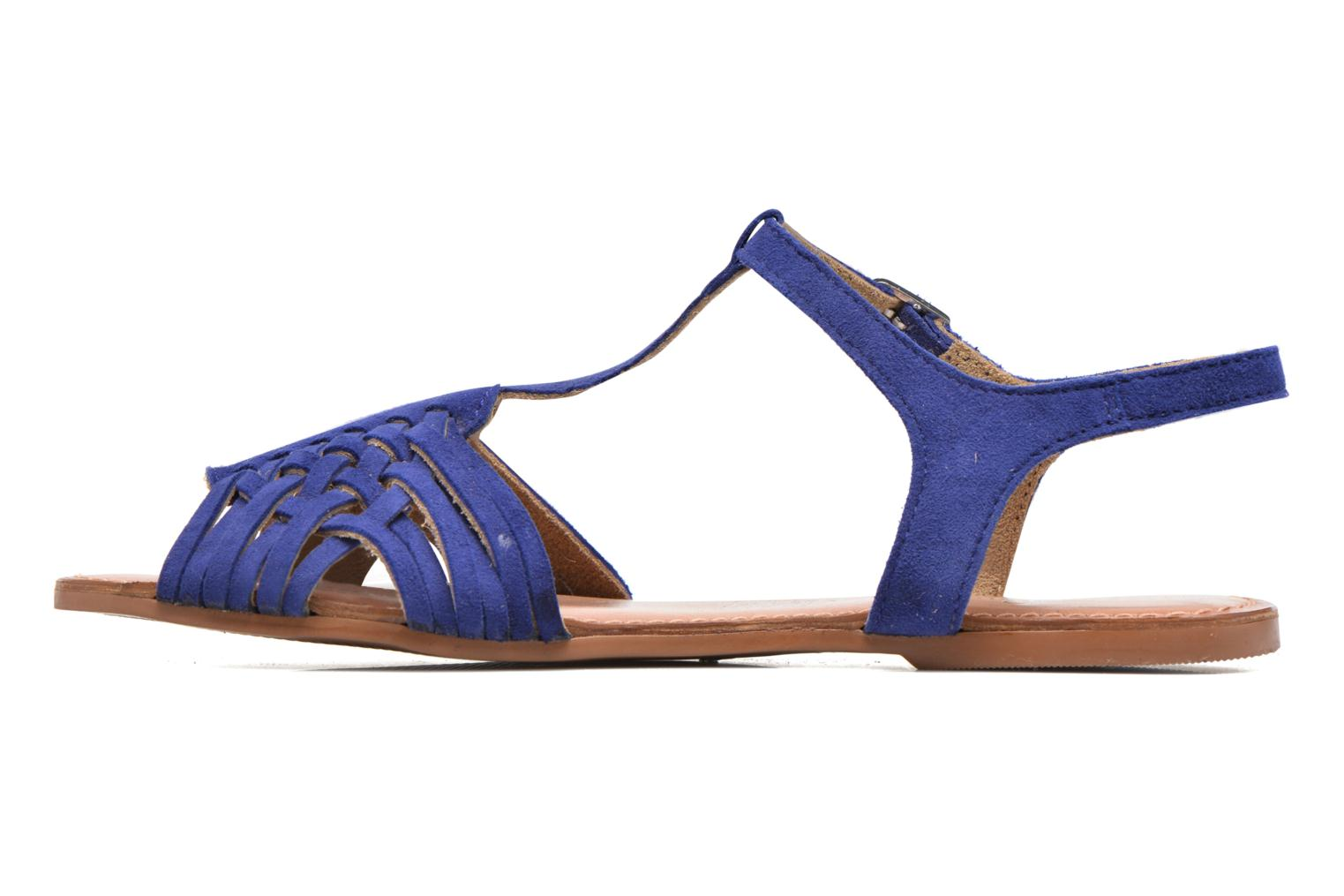 Sandals I Love Shoes KETRES Leather Blue front view