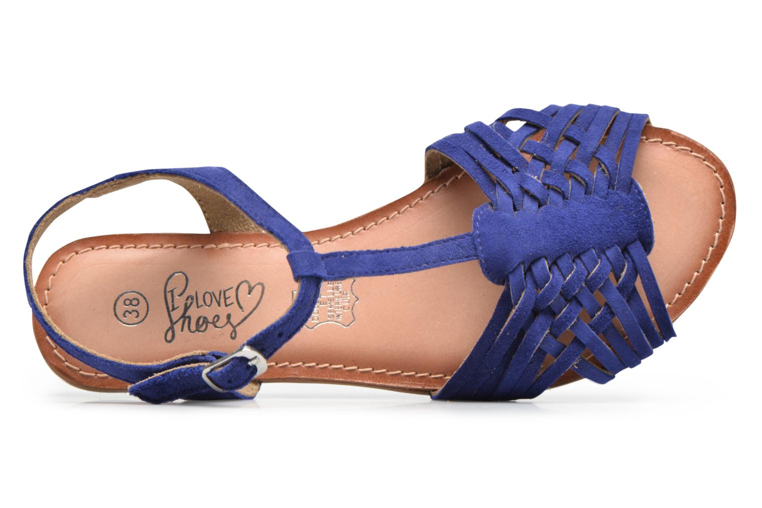 Sandals I Love Shoes KETRES Leather Blue view from the left