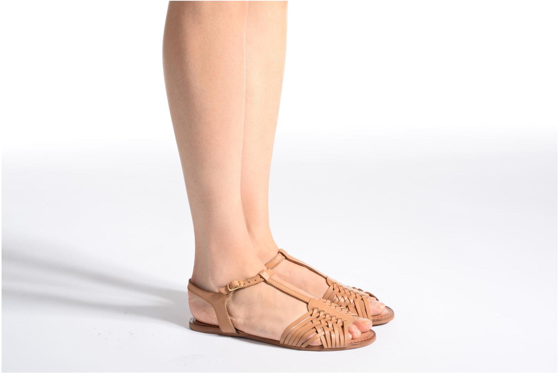 Sandales et nu-pieds I Love Shoes KETRES Leather Or et bronze vue bas / vue portée sac