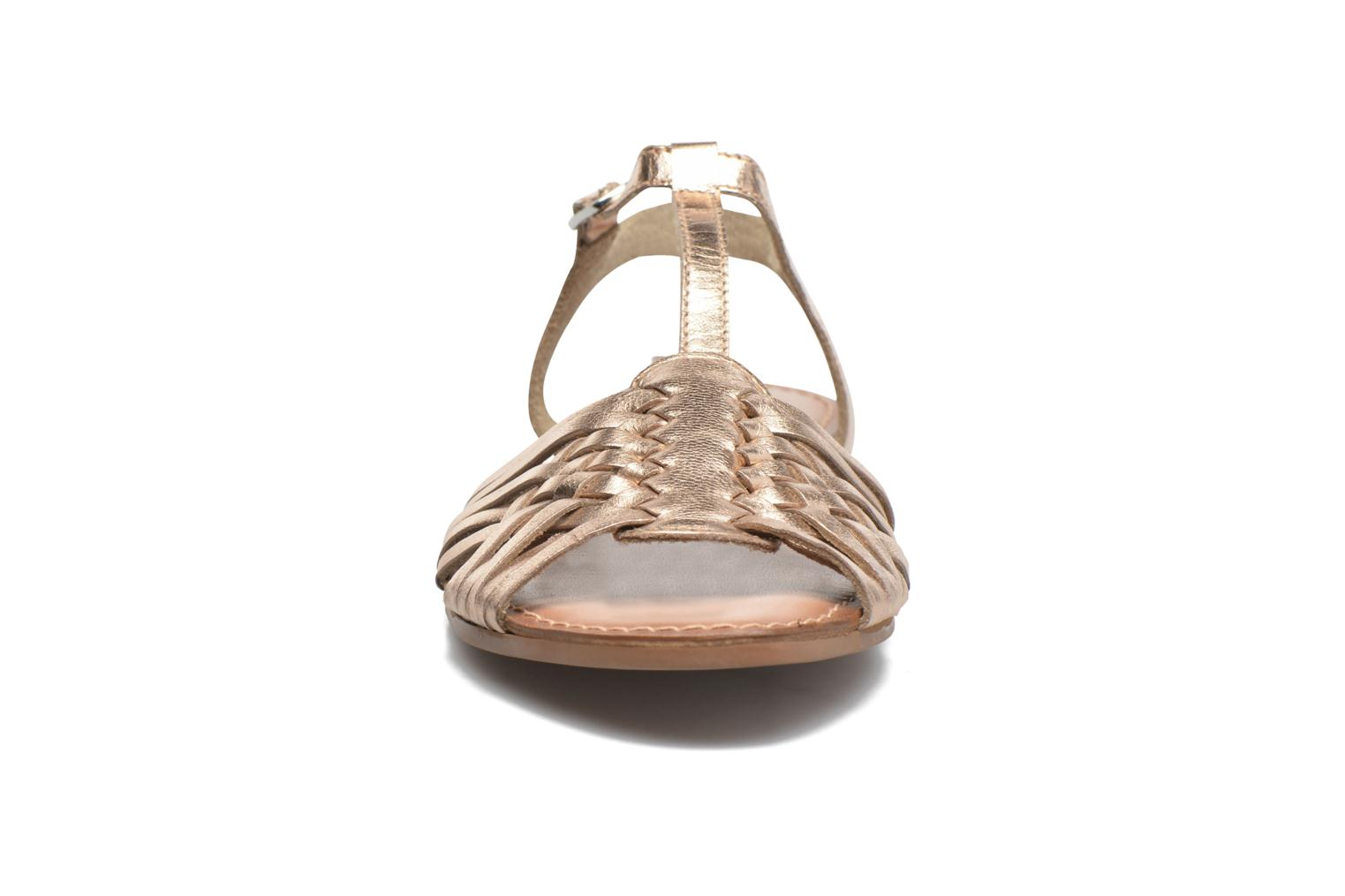 Sandals I Love Shoes KETRES Leather Bronze and Gold model view
