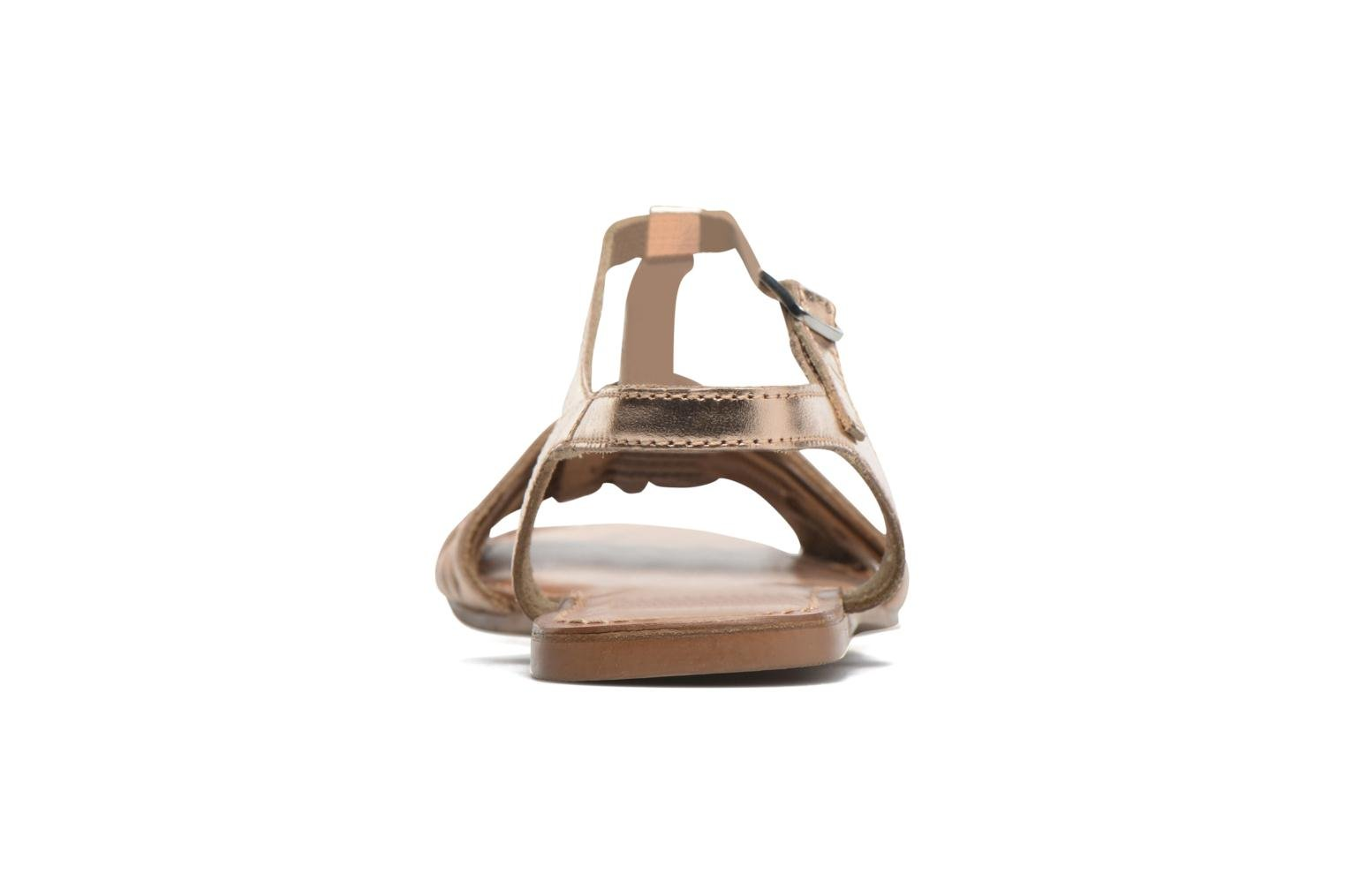 Sandals I Love Shoes KETRES Leather Bronze and Gold view from the right