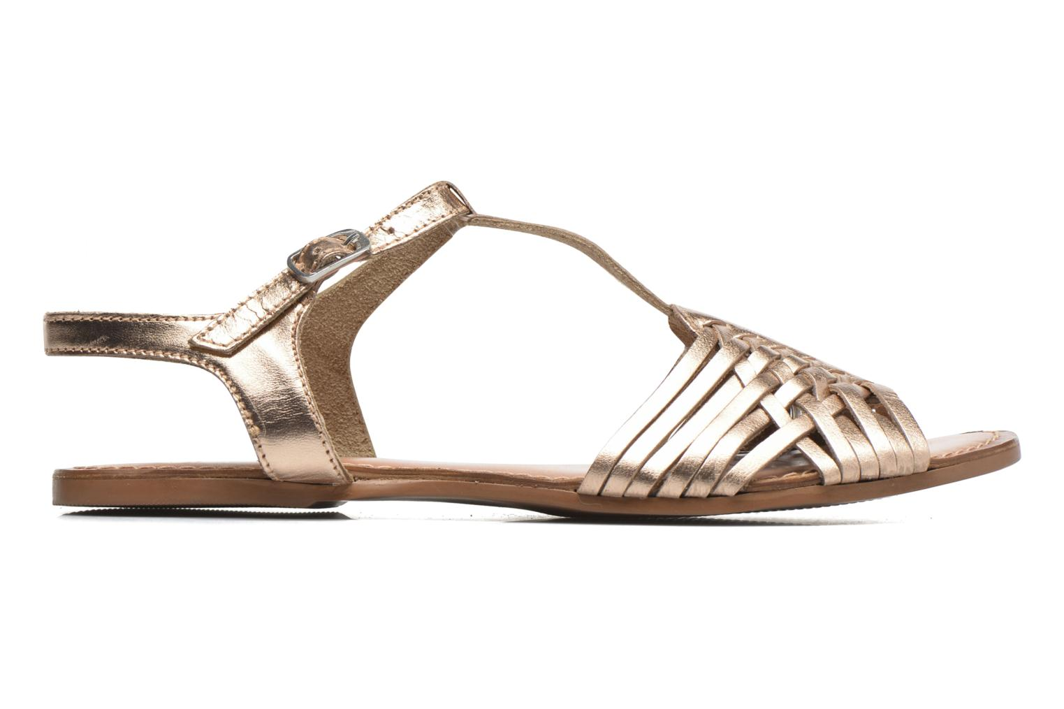Sandals I Love Shoes KETRES Leather Bronze and Gold back view
