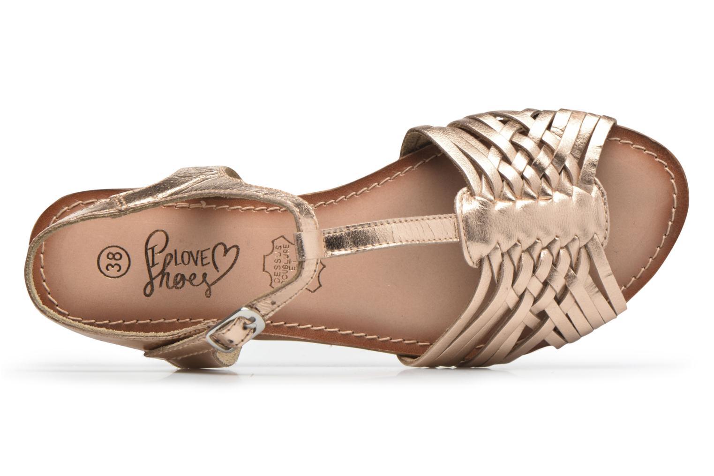 Sandales et nu-pieds I Love Shoes KETRES Leather Or et bronze vue gauche