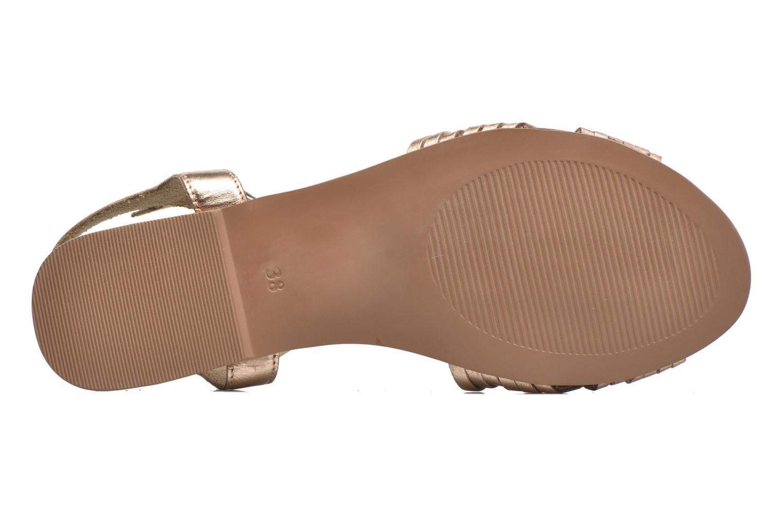Sandales et nu-pieds I Love Shoes KETRES Leather Or et bronze vue haut