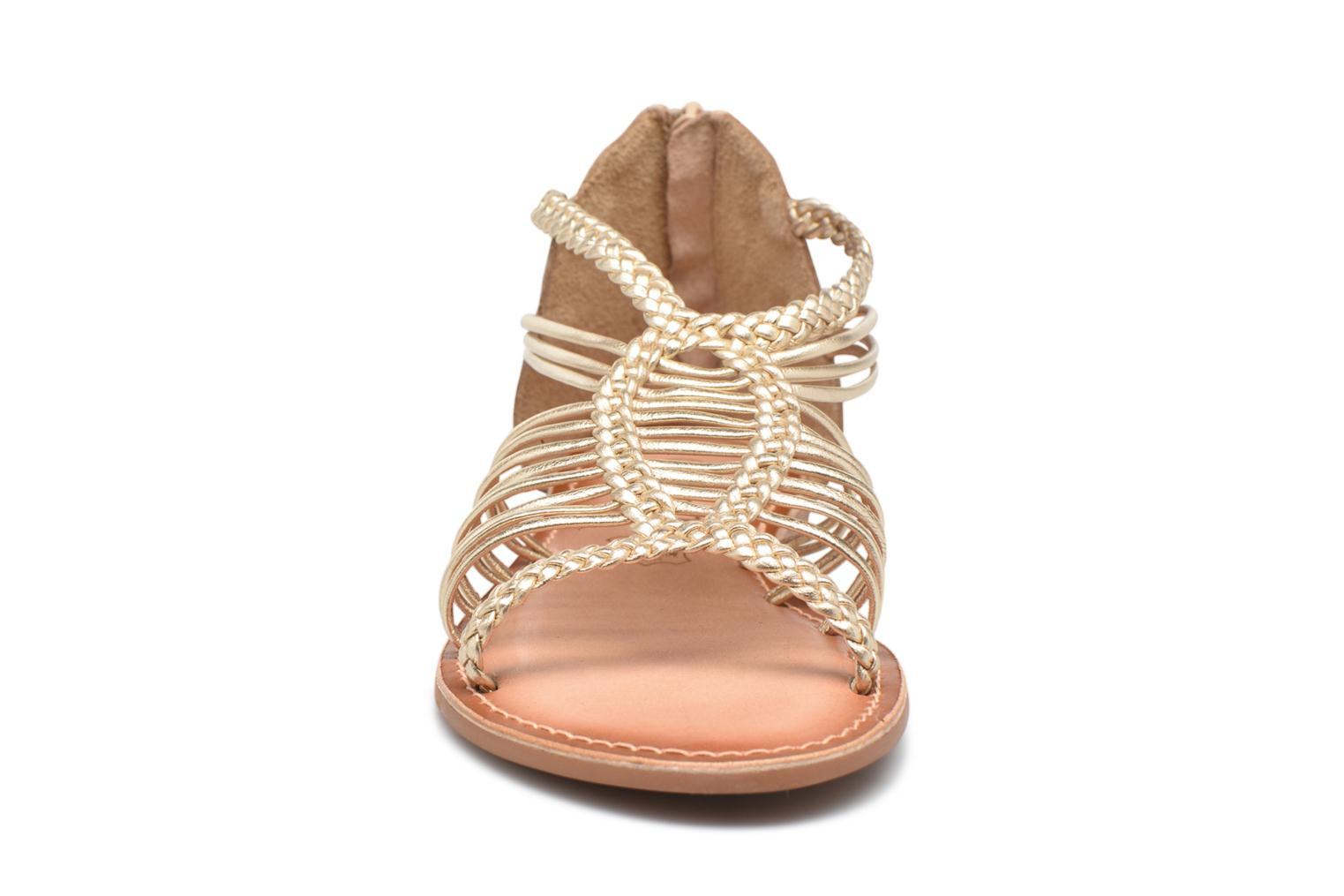 Sandals I Love Shoes KEMIA Leather Bronze and Gold model view