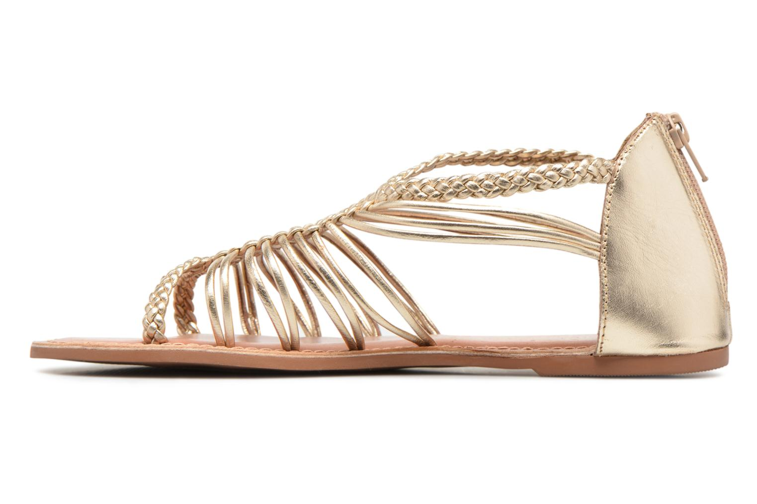 Sandals I Love Shoes KEMIA Leather Bronze and Gold front view