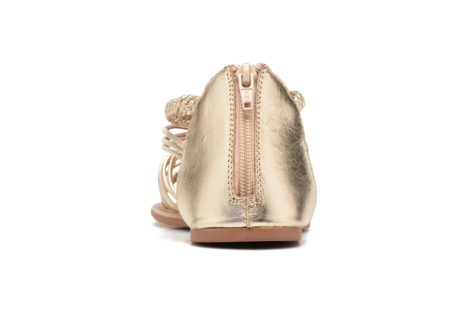 Sandals I Love Shoes KEMIA Leather Bronze and Gold view from the right