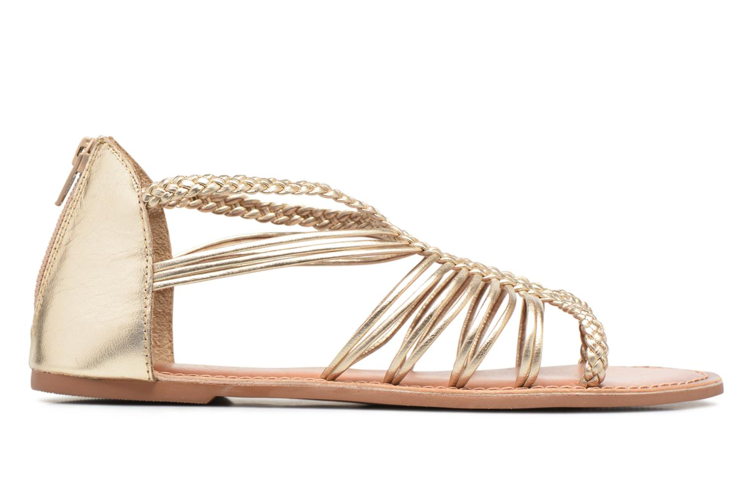 Sandals I Love Shoes KEMIA Leather Bronze and Gold back view