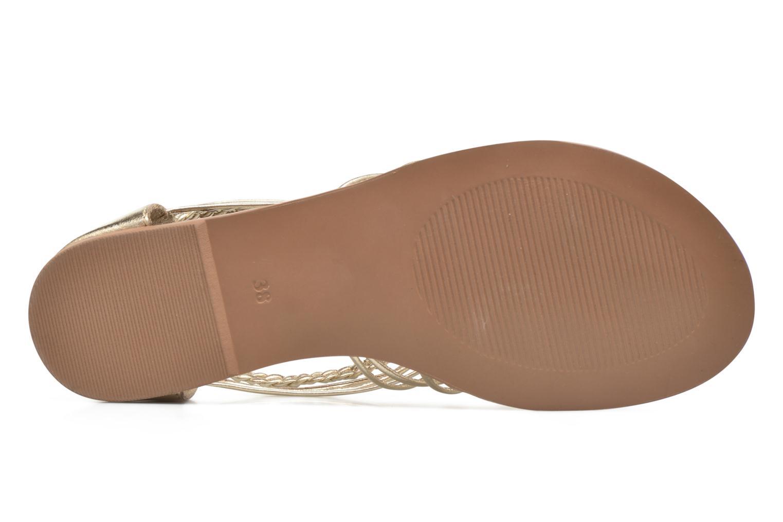 Sandalias I Love Shoes KEMIA Leather Oro y bronce vista de arriba