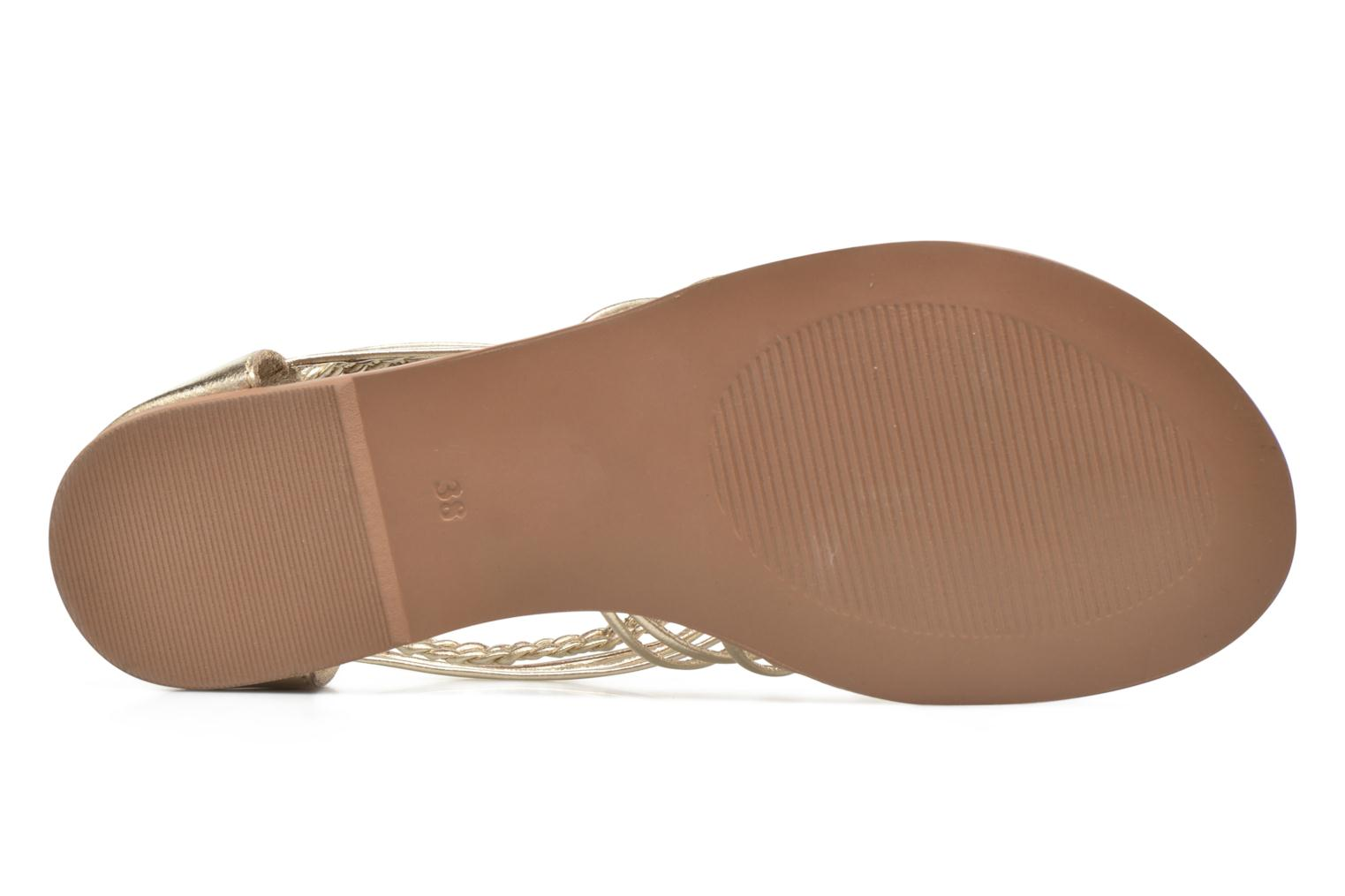Sandals I Love Shoes KEMIA Leather Bronze and Gold view from above