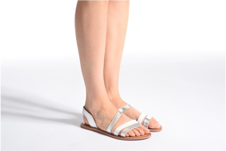 Sandalen I Love Shoes KEUNI Leather braun ansicht von unten / tasche getragen