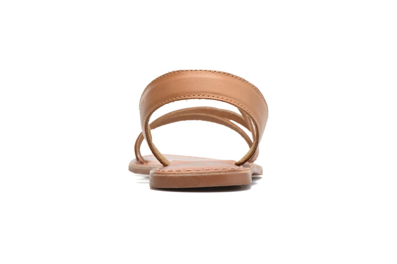 Sandales et nu-pieds I Love Shoes KEUNI Leather Marron vue droite