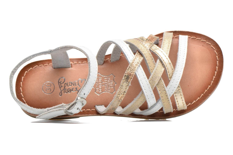 Sandales et nu-pieds I Love Shoes KEMULT Leather Blanc vue gauche
