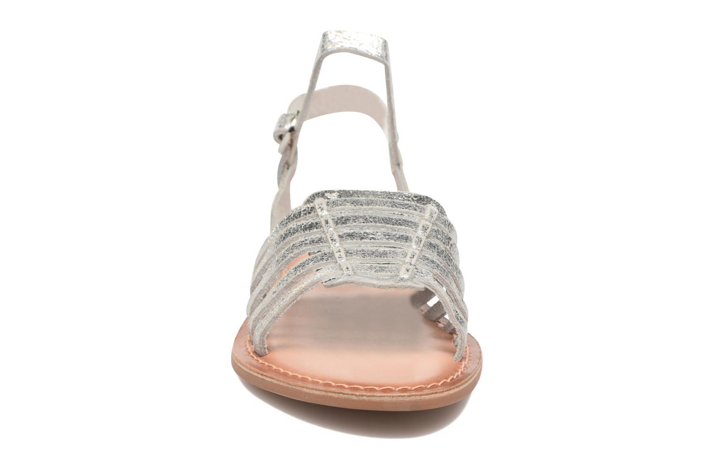Sandales et nu-pieds I Love Shoes KEGLIT Leather Argent vue portées chaussures