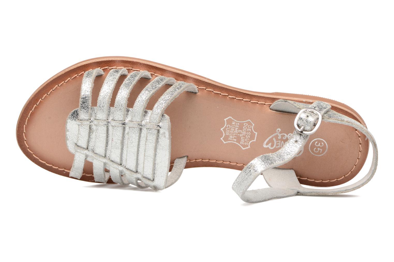 KEGLIT Leather silver CRAKLE