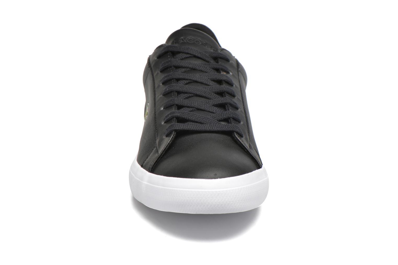 Sneaker Lacoste Lerond BL 1 schwarz schuhe getragen