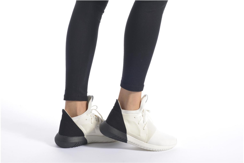 Baskets Adidas Originals Tubular Defiant W Bleu vue bas / vue portée sac