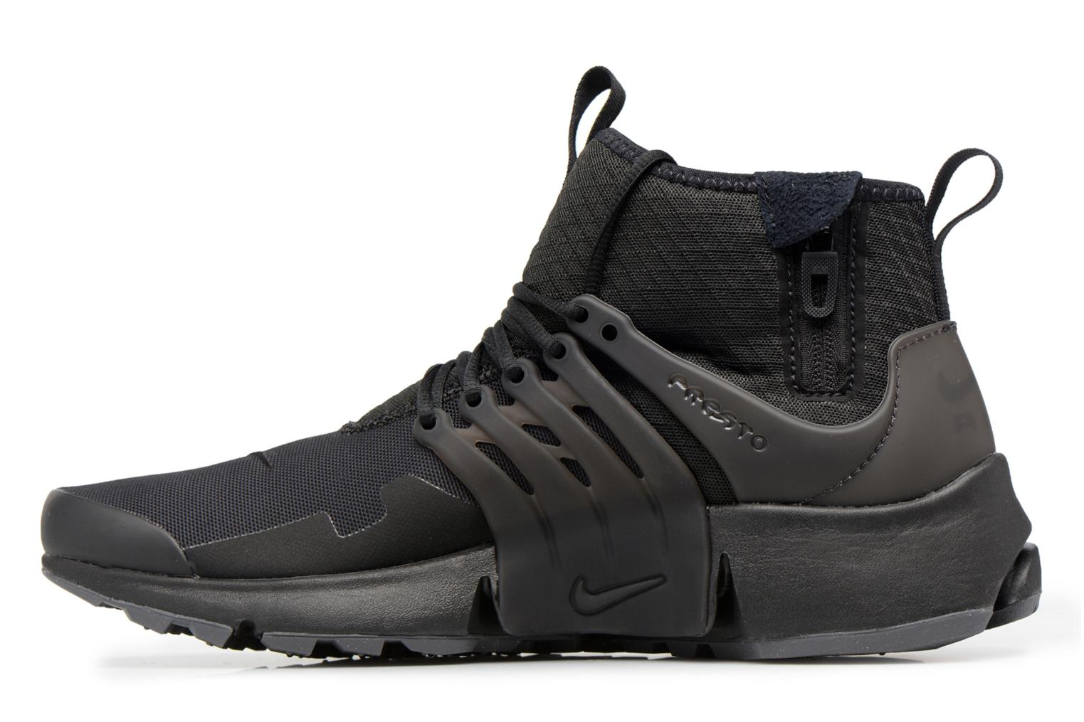 Trainers Nike Nike Air Presto Mid Utility Black front view