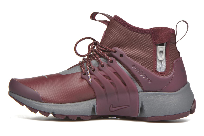 Sneaker Nike W Air Presto Mid Utility weinrot ansicht von vorne