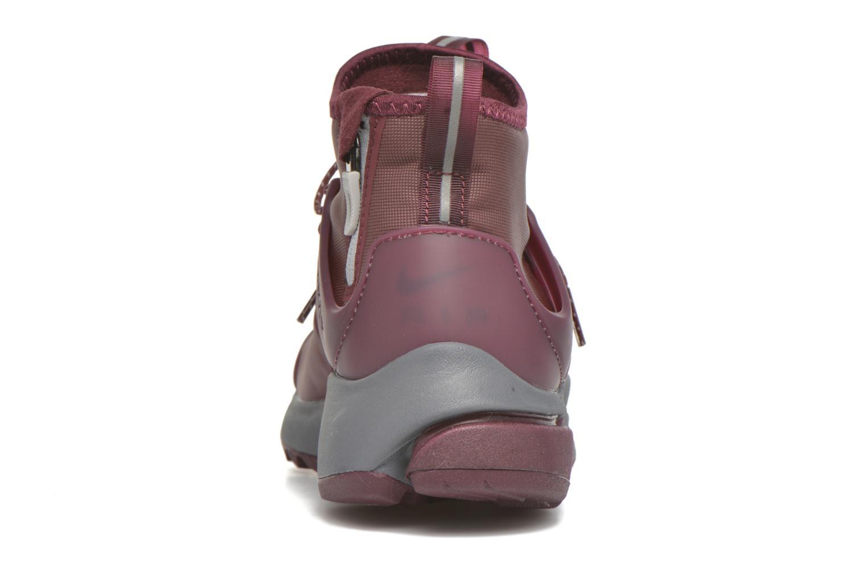 Baskets Nike W Air Presto Mid Utility Bordeaux vue droite