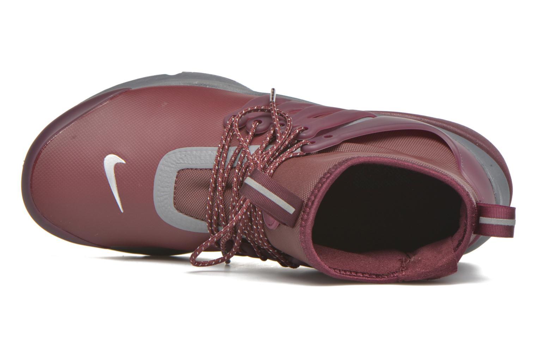 Baskets Nike W Air Presto Mid Utility Bordeaux vue gauche