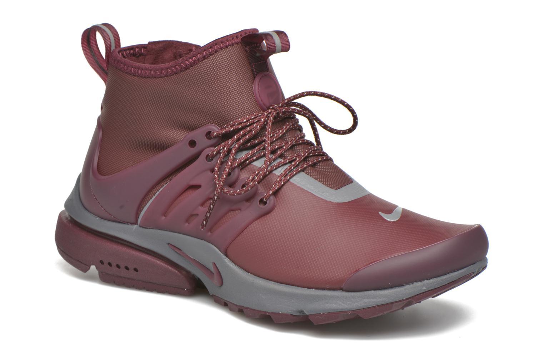Baskets Nike W Air Presto Mid Utility Bordeaux vue détail/paire