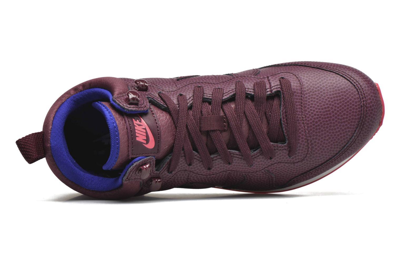 Baskets Nike W Internationalist Mid Lthr Bordeaux vue gauche
