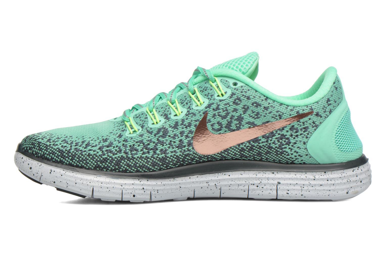 Chaussures de sport Nike W Nike Free Rn Distance Shield Vert vue face
