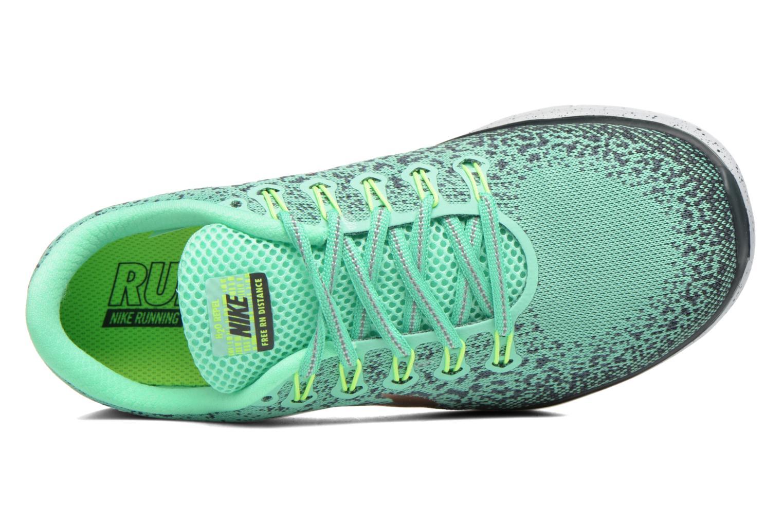 Chaussures de sport Nike W Nike Free Rn Distance Shield Vert vue gauche