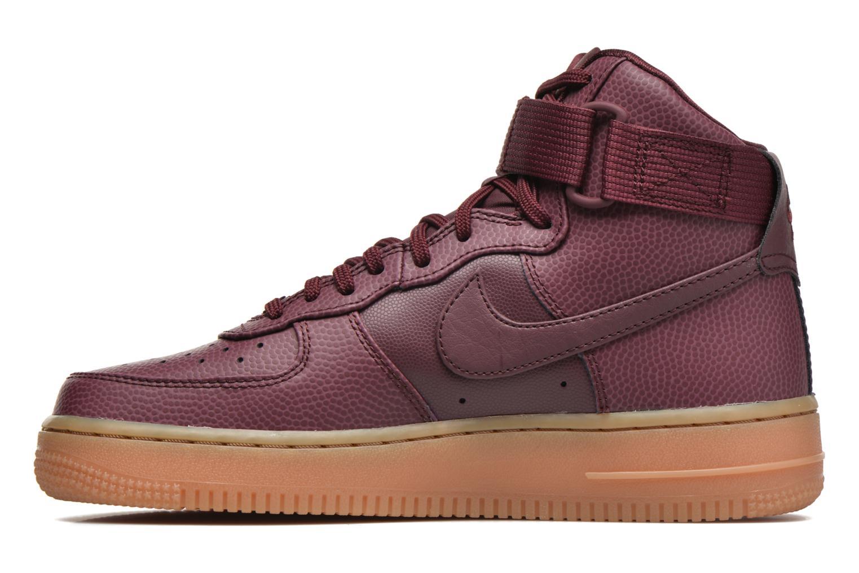 Baskets Nike Wmns Air Force 1 Hi Se Bordeaux vue face