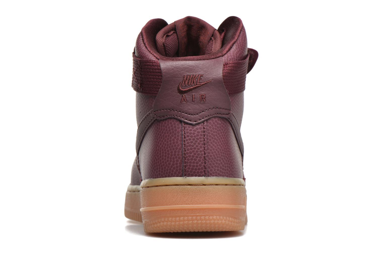 Baskets Nike Wmns Air Force 1 Hi Se Bordeaux vue droite