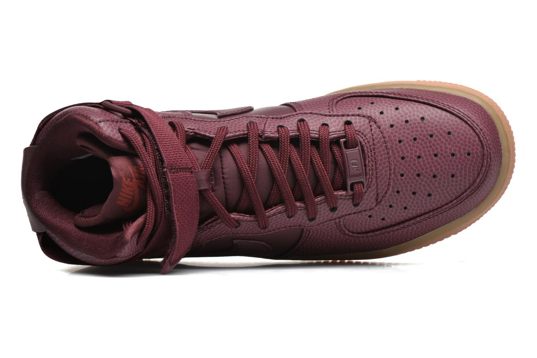 Baskets Nike Wmns Air Force 1 Hi Se Bordeaux vue gauche