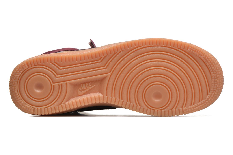 Baskets Nike Wmns Air Force 1 Hi Se Bordeaux vue haut