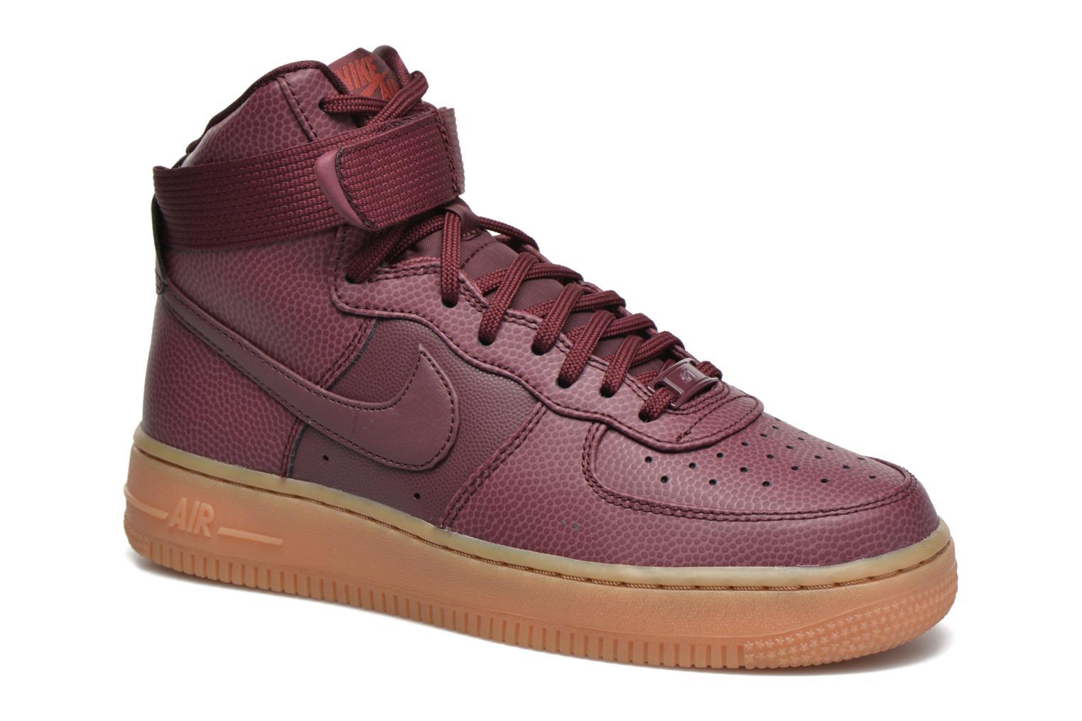 Baskets Nike Wmns Air Force 1 Hi Se Bordeaux vue détail/paire