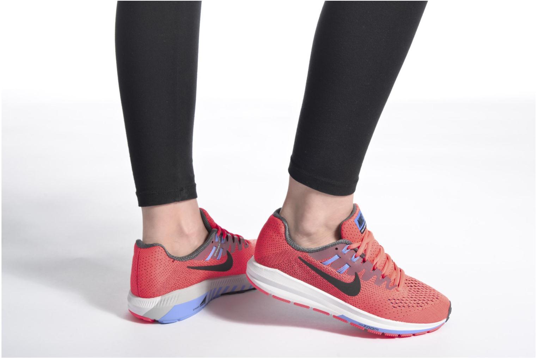 Chaussures de sport Nike Wmns Air Zoom Structure 20 Rose vue bas / vue portée sac