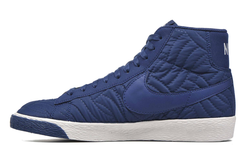 Baskets Nike Wmns Blazer Mid Prm Se Bleu vue face